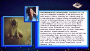 Noris Díaz pone fin a las especulaciones