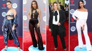 Las mujeres se ponen los pantalones para los Latin AMAs