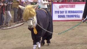 """Presentan a Donald Trump como un """"burro"""""""