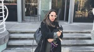 Perrita de Kate del Castillo fue rescatada de incendios en California
