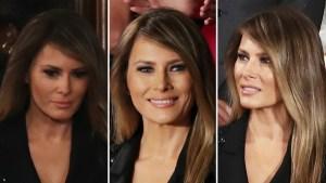 Melania Trump luce vestido de casi $10,000 para ver a su esposo