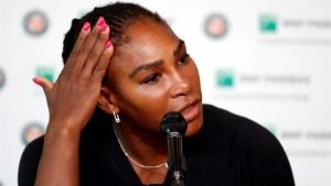 """Serena Williams revela que sufre """"emociones postparto"""""""