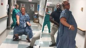 Viral: inicia su trabajo de parto con este baile