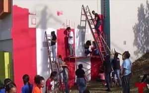 """""""78 pueblos, una sola bandera"""" llega a escuela de Caimito"""