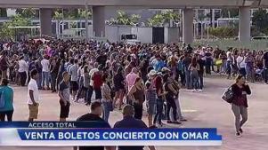 Hacen fila durante horas por taquillas para Don Omar
