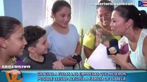 Lluvia de ayudas para familia en Isabela