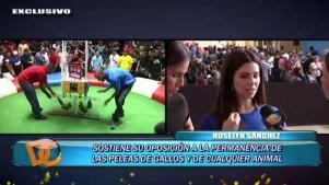 Roselyn Sánchez explica por qué se opone a peleas de gallos