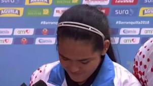 Adriana Díaz se emociona durante entrevista