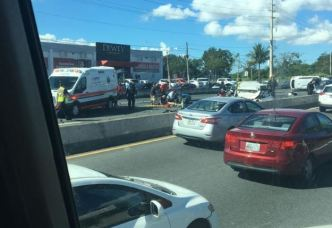 Accidente con varios vehículos en la PR-3 en Carolina