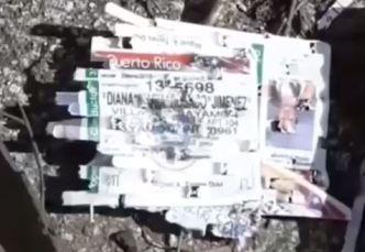 Hallan cientos de licencias tiradas en basurero