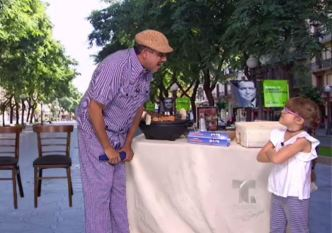 Miranda visita el negocio de pinchos de Maneco