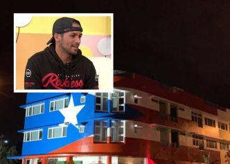 Alexandra entrevista a artista que pintó bandera en Miami