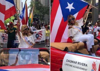 Dagmar recibe reconocimiento en Parada Puertorriqueña