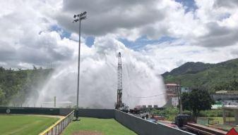 Explota tubería de agua en Villalba