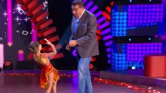 Niña sufre enseñando a bailar a Don Francisco