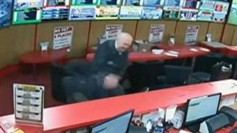 Fueron a robar un bar pero el bisabuelo se los impidió