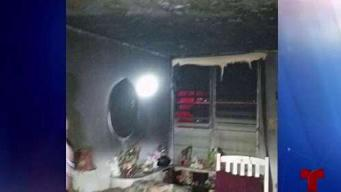 Ancianos se salvaron de fuego que consumió habitación