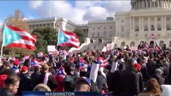 Boricuas se manifiestan en Washington D.C.