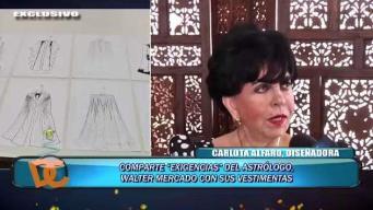 Carlota Alfaro sobre la confección de Walter Mercado