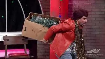 Chupy llegó con el espíritu navideño