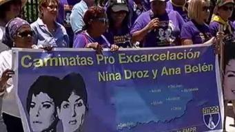 Claman por la excarcelación de Nina Droz