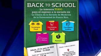 Clínicas para el Back To School