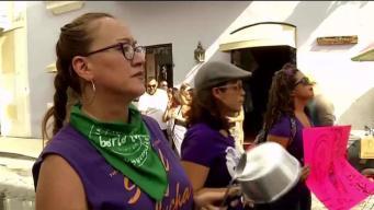 Colectiva Feminista protesta frente a la Fortaleza