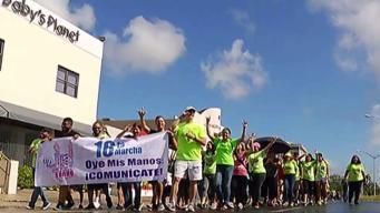 Comunidad sorda marcha por sus derechos