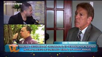 Defensa de Manny Manuel responde a demanda