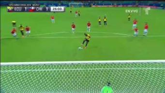 Ecuador empata a 1 tras tiro penal