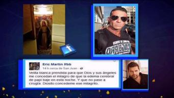 El papá de Ricky Martin mejora poco a poco