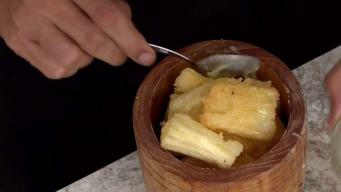 En la cocina: mofongo de yuca relleno de churrasco