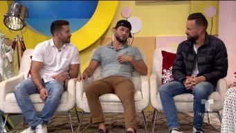 Erasmo, Tommy y Jorge comparten con Alexandra