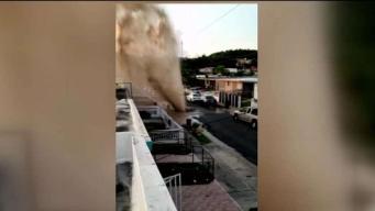 Explosión de agua en Cayey deja a vecinos sin el servicio