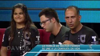 Familia de Héctor Ferrer se propone a hacer toda la caminata
