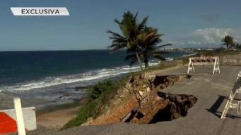 Grave colapso de carretera en Arecibo
