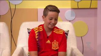 Impresionante narración de fútbol de niño en Alexandra a las 12