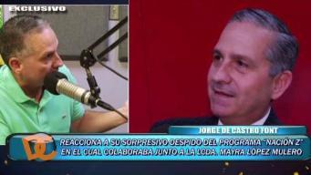 Jorge De Castro reacciona a su despido en programa radial