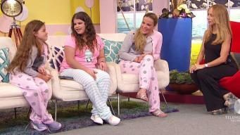 En pijamas Saudy y sus nenas