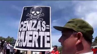 Manifestantes en contra de las cenizas amenazan con movimientos masivos