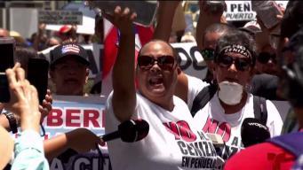Manifestantes le declaran la guerra a Pierluisi