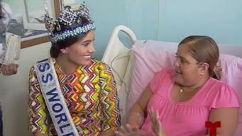 Miss Mundo comparte con pacientes de cáncer