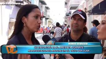 Nuria Sebazco y Pedro Rodríguez narran cobertura de intensa manifestación