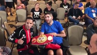 Prichard acompaña a otro boxeador boricua en pesaje