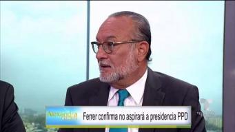 Reacción inmedita: Ferrer no aspirará a presidencia del PPD