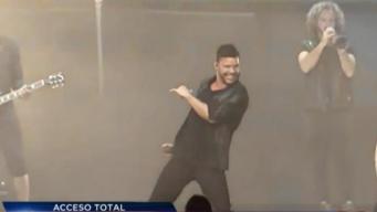 Ricky Martin enciende inauguración de crucero