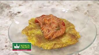 Salmorejo de jueyes con tostones