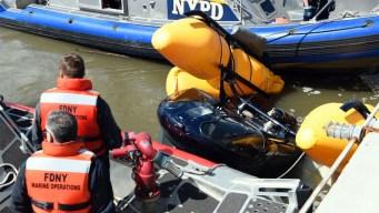 Helicóptero cae al río Hudson en Nueva York