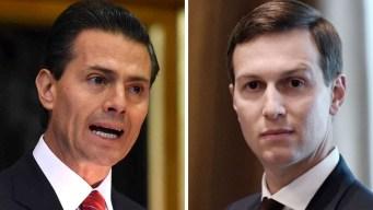Peña Nieto recibe al yerno de Trump en Los Pinos