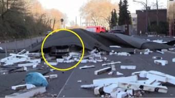 En cámara: querían evitar el peligro, pero les pasó algo peor